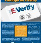 E-Verify Participation Poster Spanish Version